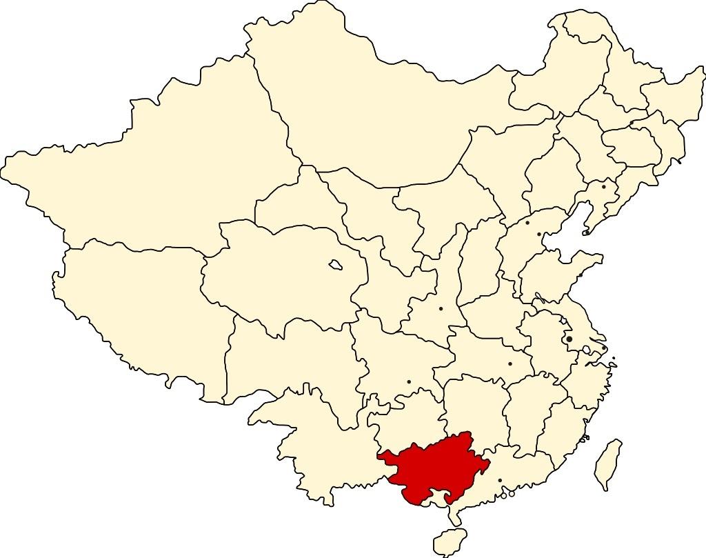 広西省の位置