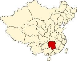 湖南省の位置
