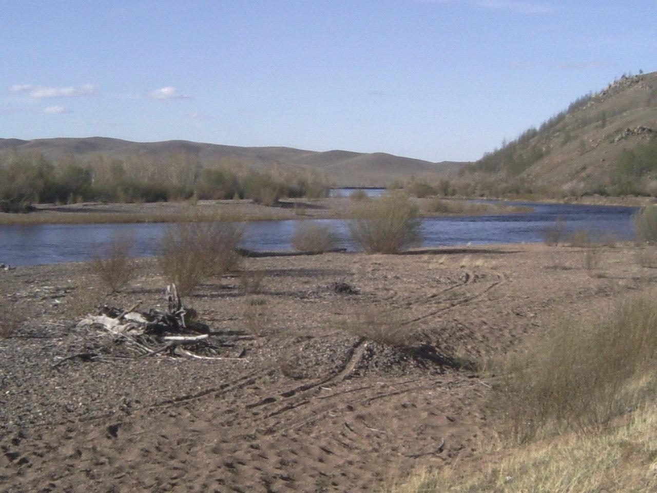 オノン川上流、チンギス・ハーンの生誕地と伝えられる場所