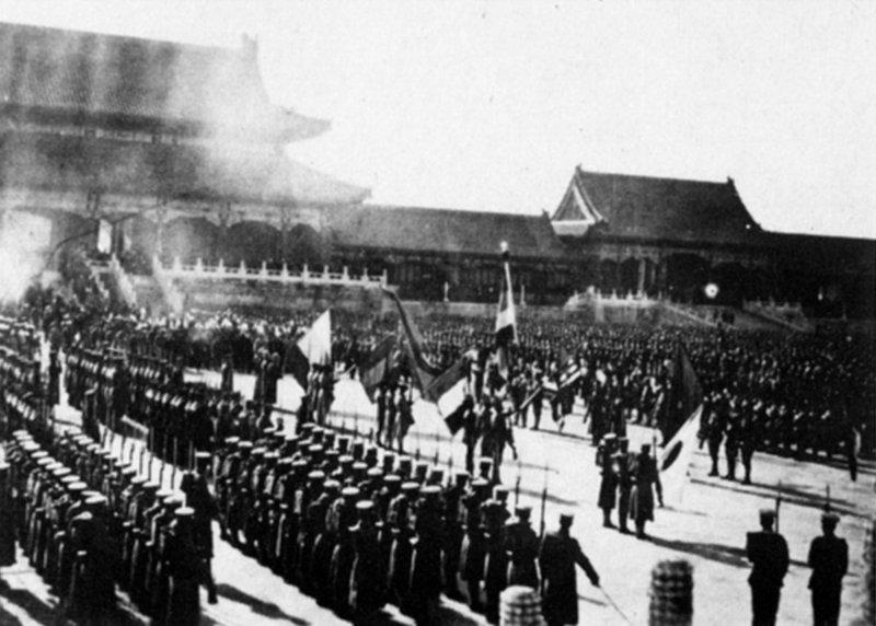紫禁城内の連合軍