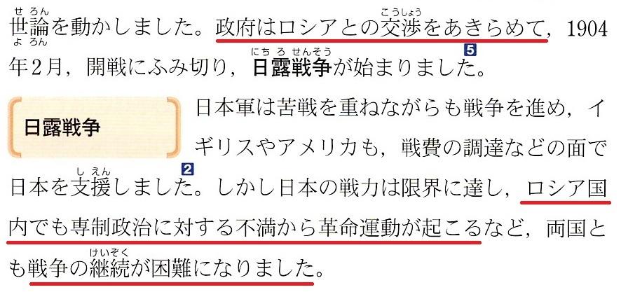 東京書籍 日露戦争 5