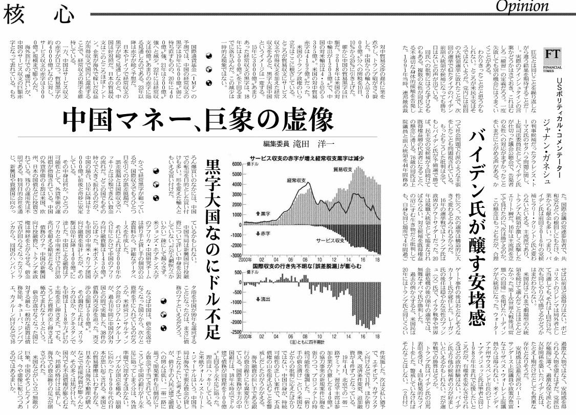 中国マネー、巨象の虚像 日本経済新聞20190513
