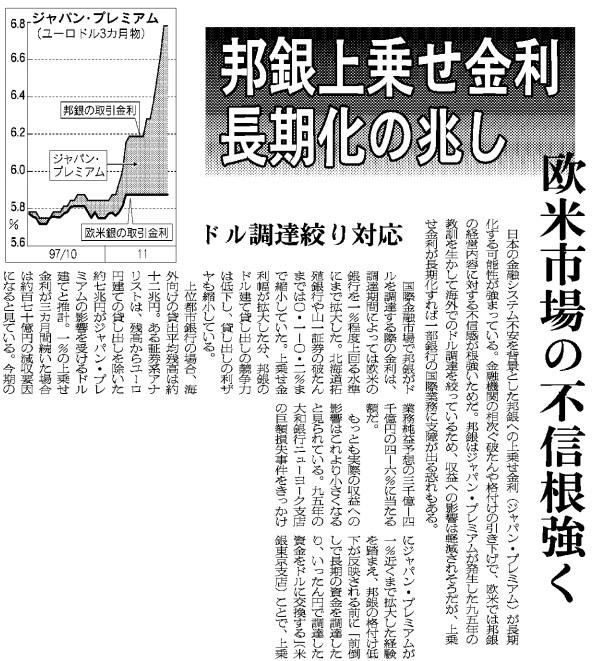 日本経済新聞1997年12月1日