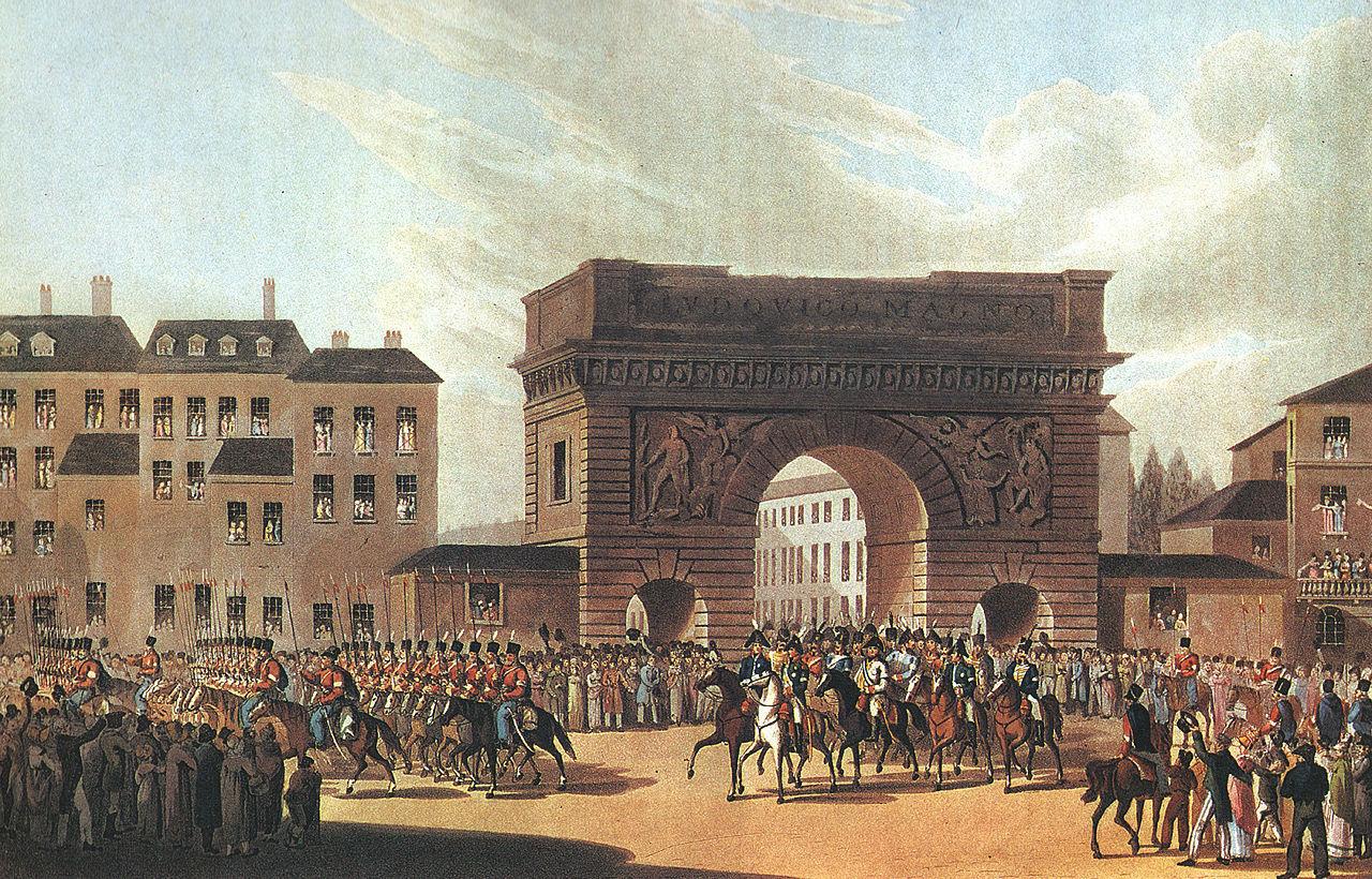 パリに入城するロシア軍