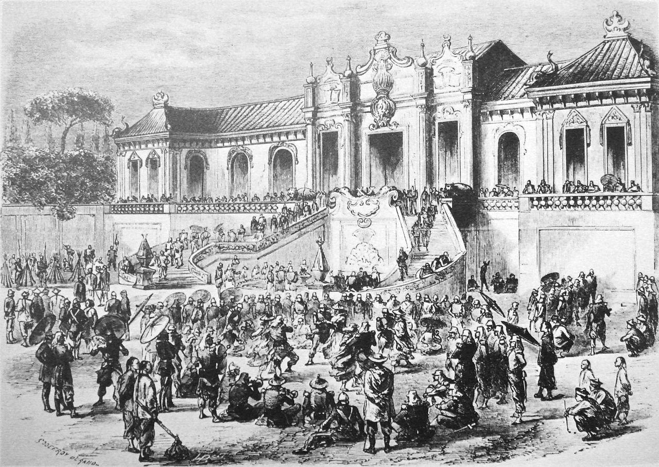 英仏軍の円明園の略奪(1860年)