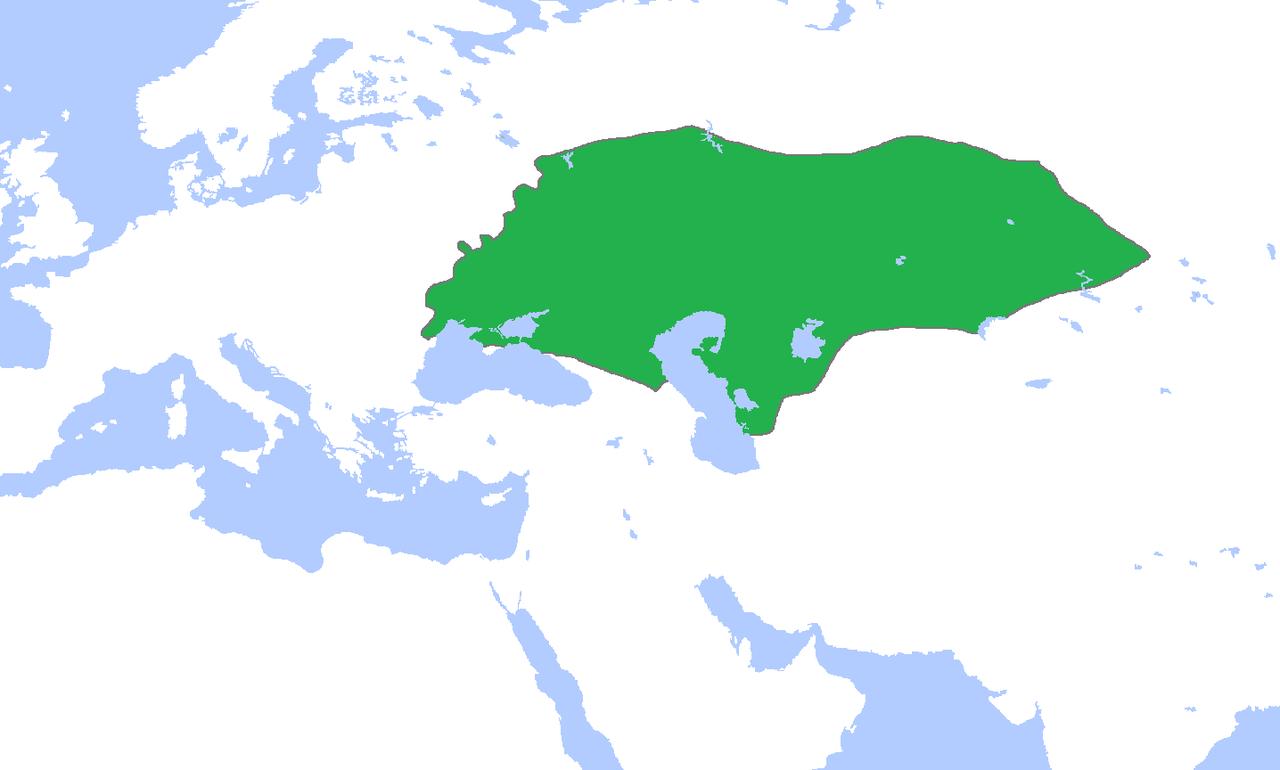 ジョチ・ウルスの領域(1300年ごろ)
