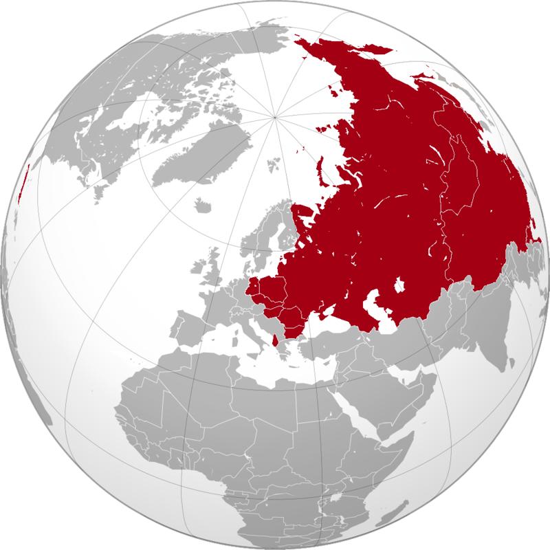 ソ連の最大勢力圏(1960年)