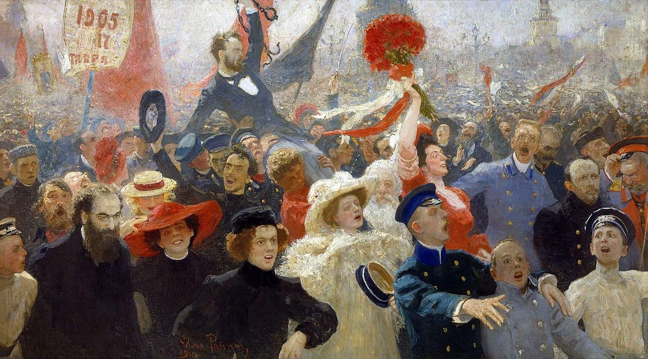 『1905年10月17日』 イリヤ・レーピン