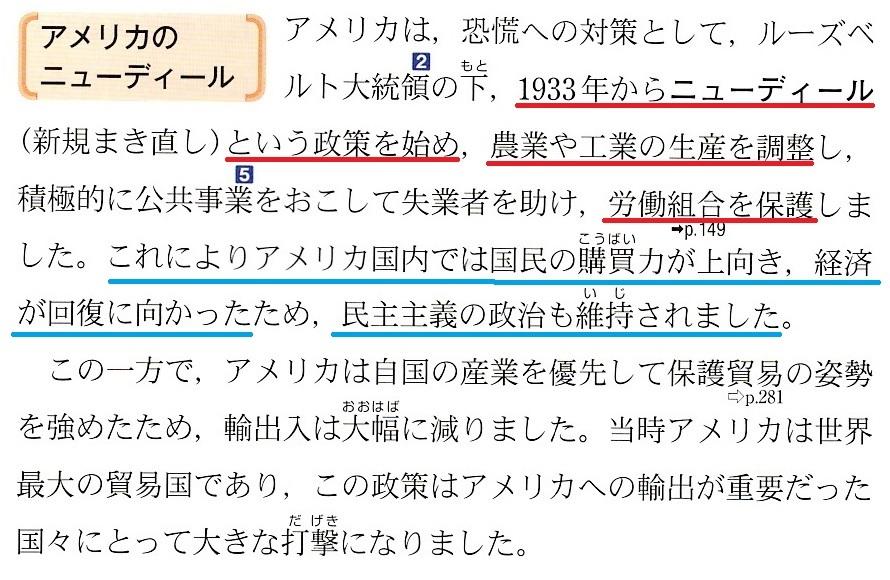 東京書籍 世界恐慌 3