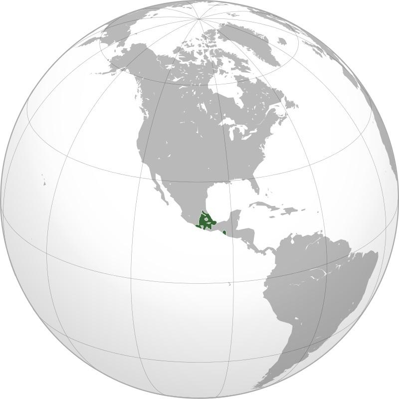 アステカ帝国の版図