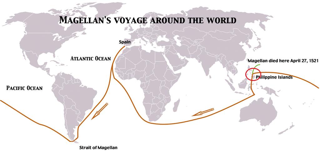 マゼラン艦隊の航路
