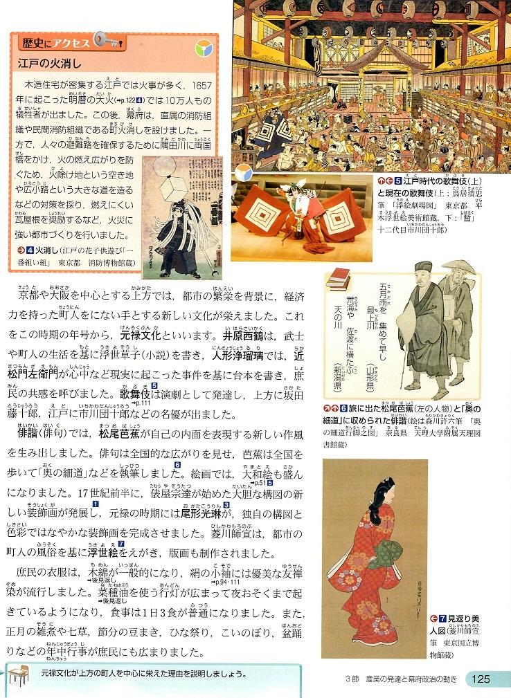 東京書籍 幕府政治の安定と元禄文化 ②