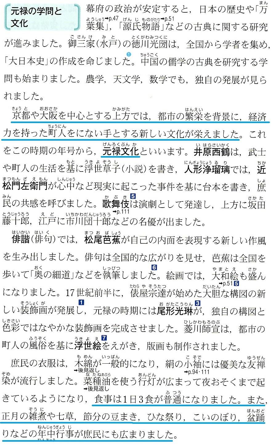 東京書籍 幕府政治の安定と元禄文化 3