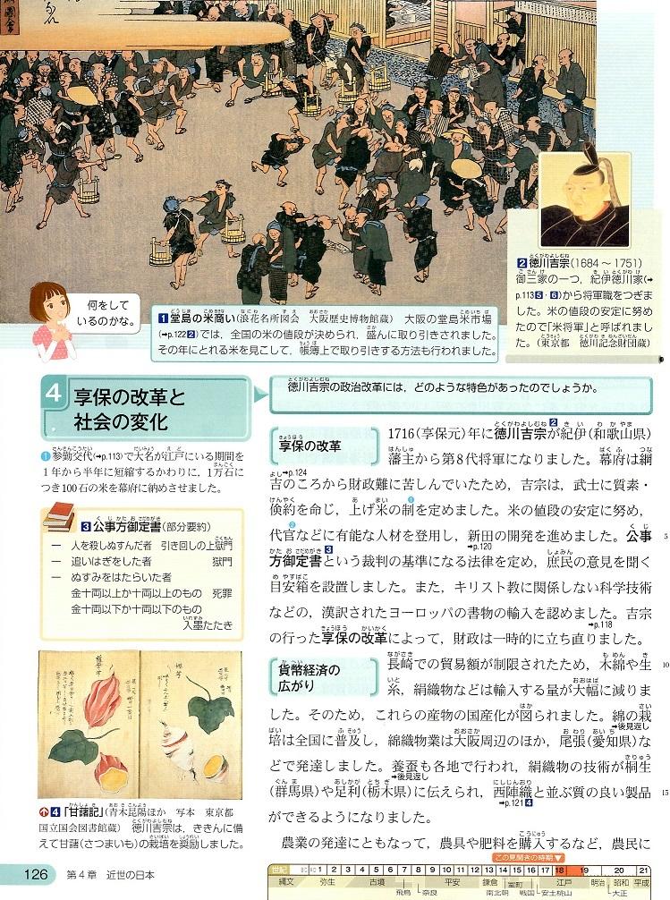 東京書籍 享保の改革と社会の変化 ①