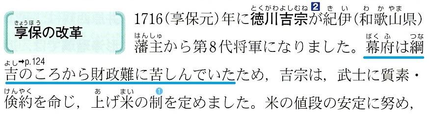 東京書籍 享保の改革と社会の変化 3