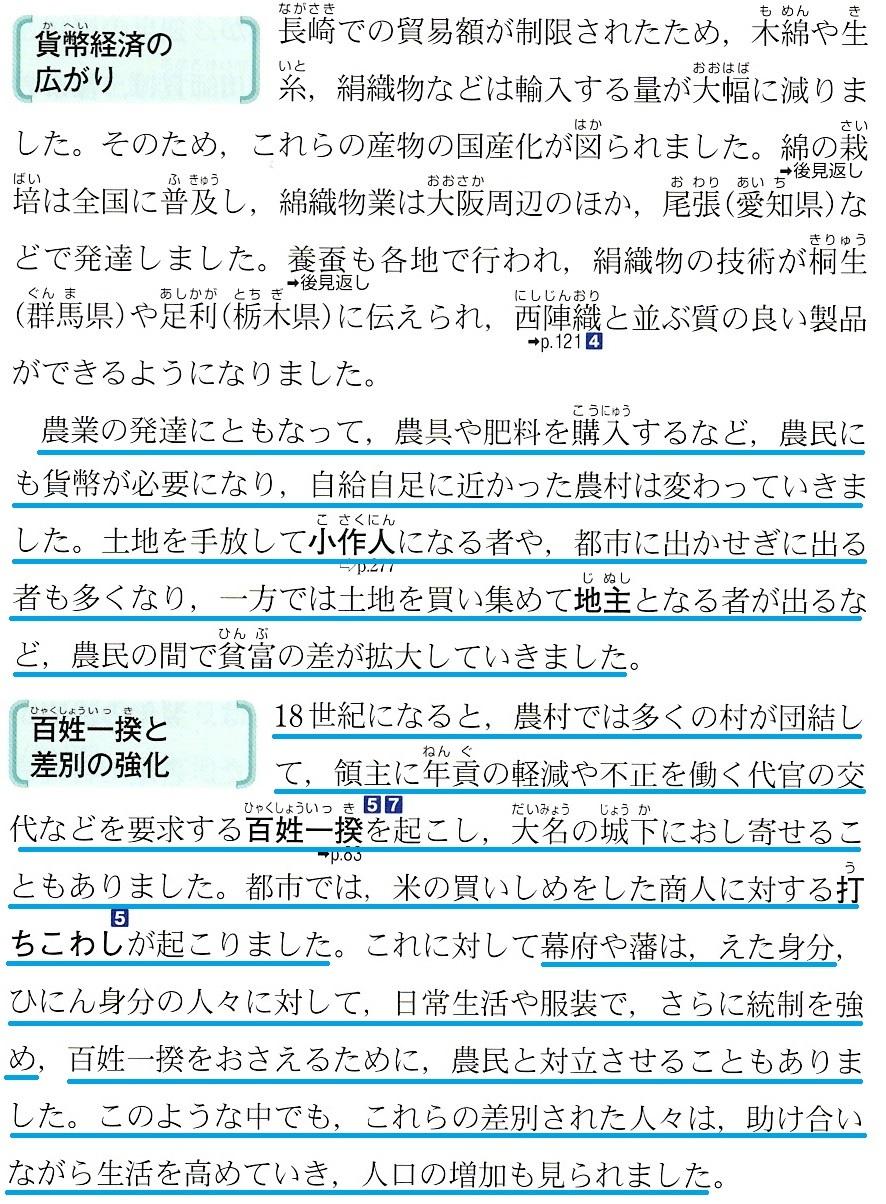 東京書籍 享保の改革と社会の変化 4