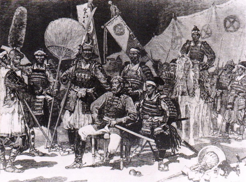 「西郷隆盛とその将兵たち、西南戦争にて」