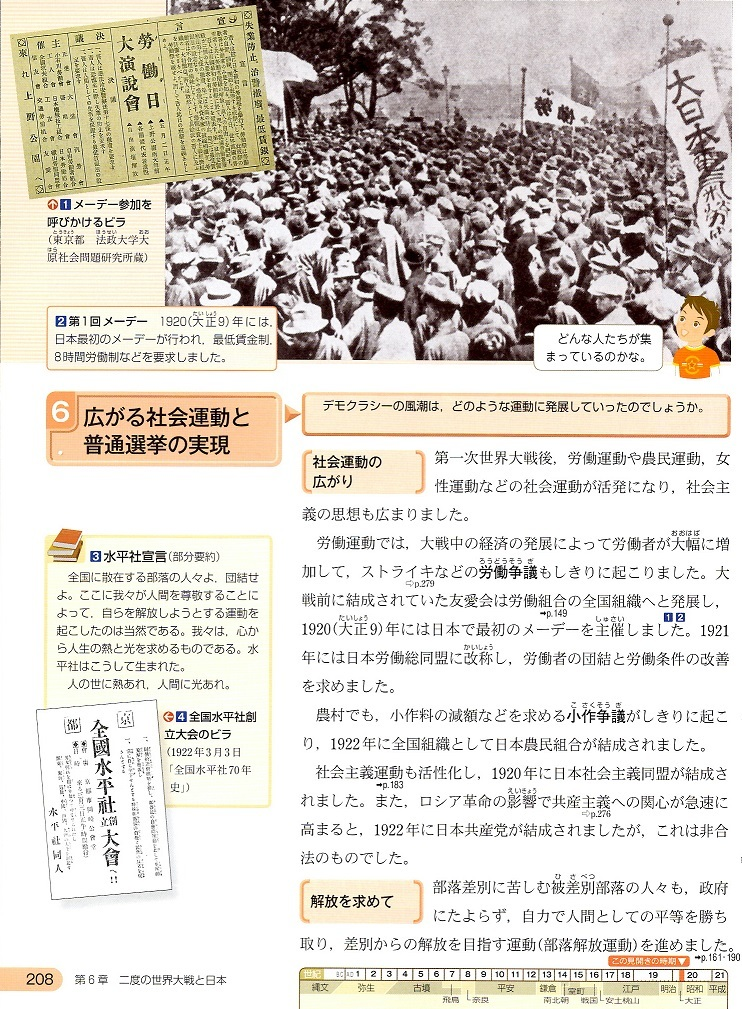 広がる社会運動と普通選挙の実現 ①