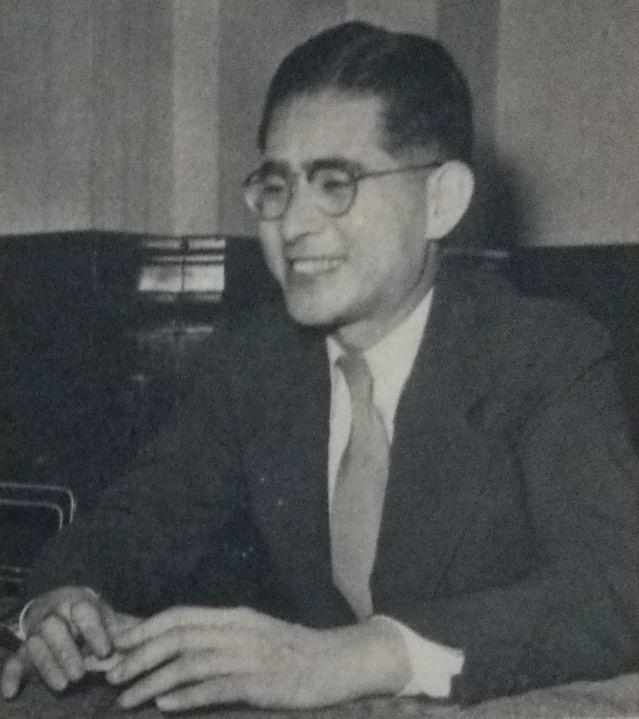 下村治 (アサヒグラフ 1953年9月23日号)