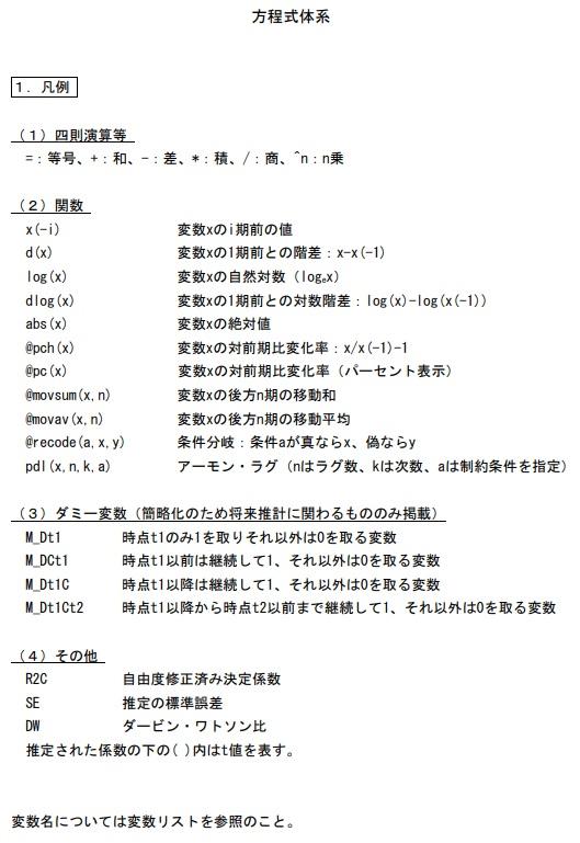 内閣府 計量経済モデル及び試算関係資料 2