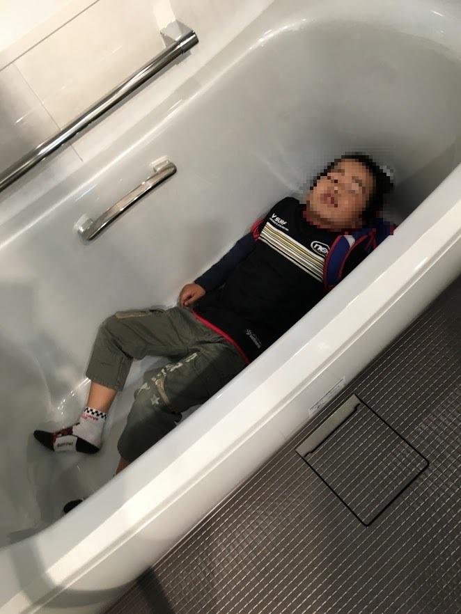 お風呂で寝る