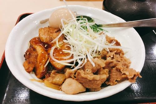 松屋豚角煮丼 (2)
