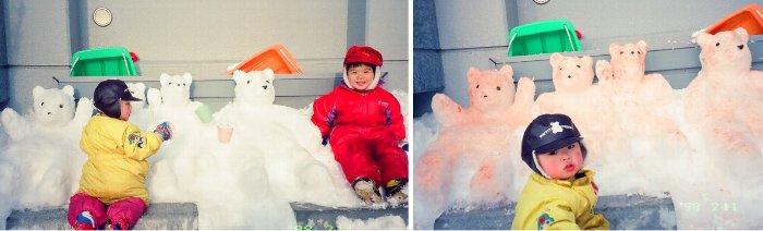 雪遊び20年前u