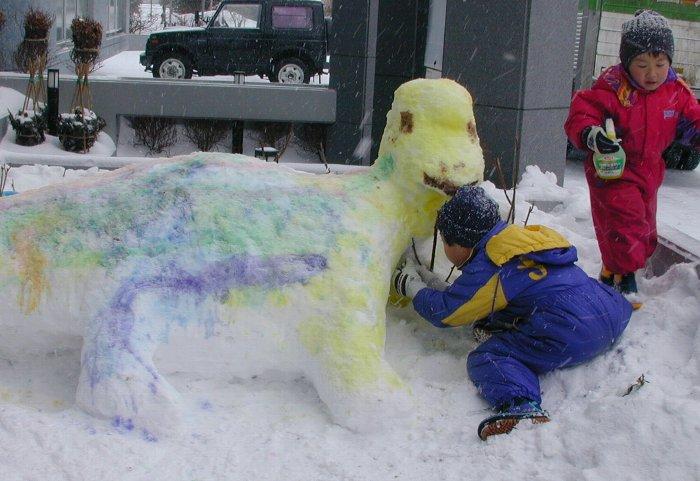 雪遊び20年前5