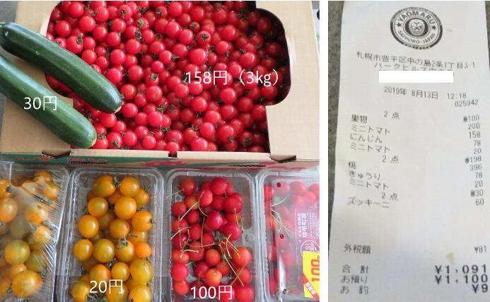 20190813野菜がヤバいくらい安い