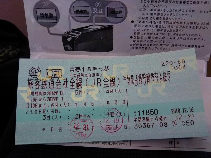 青春18切符で格安の旅(金券ショップの活用)
