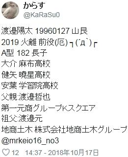 ⑱【ミスター強盗傷害変態強姦魔渡辺陽太渡邉陽太】整形疑惑!