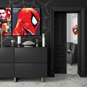 スパイダーマンのポップアートパネル1