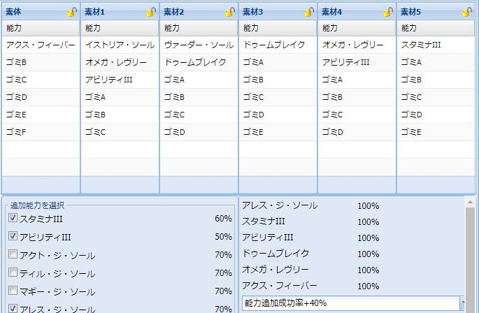 159【報酬期間】ユニット特殊能力 ~格安簡単レシピPart3~5