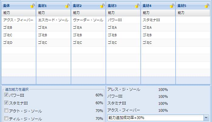 【報酬期間】火力盛りユニット特殊能力レシピ集2