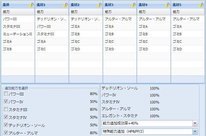 【報酬期間】HP盛りユニット特殊能力レシピ集1