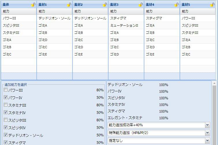【報酬期間】HP盛りユニット特殊能力レシピ集2