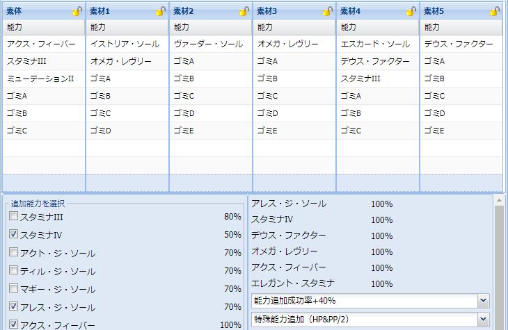 【報酬期間】HP盛りユニット特殊能力レシピ集4