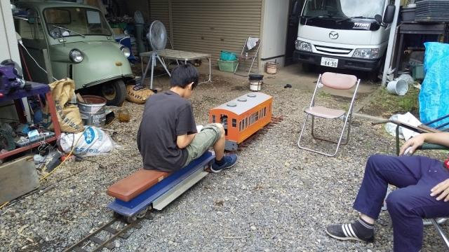 電車の操縦も初体験