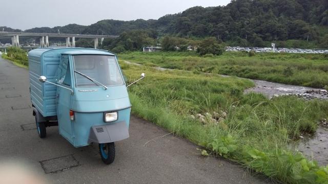 秋川の鮎釣りポイント、今日は人がいません