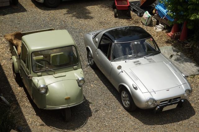 トヨタスポーツ800とミゼット