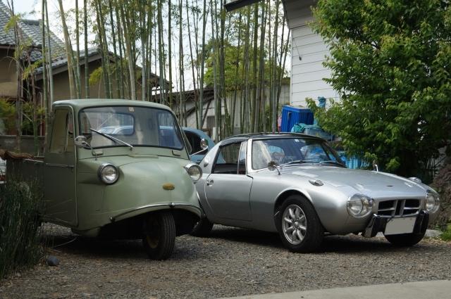 トヨタスポーツ800とミゼットですよ