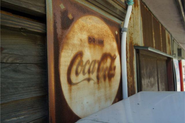 碧南の浅岡商店のコカコーラの看板
