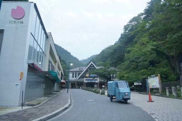 高尾山のケーブルカー乗り場とミゼット