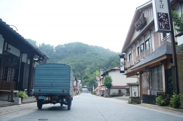 高尾山の参道を