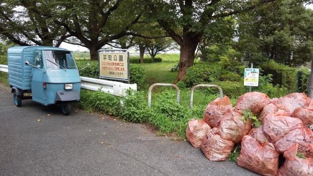 多摩川に行く