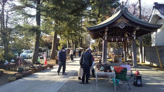 諏訪神社の骨董市