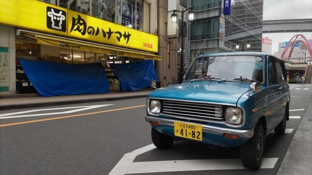 荷台に稲を、ベスパカー