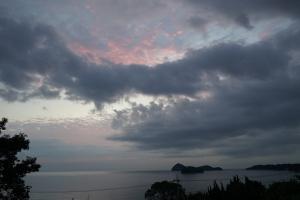 天の雲朝焼け