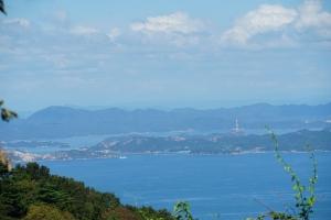 直島岡山方面を見る