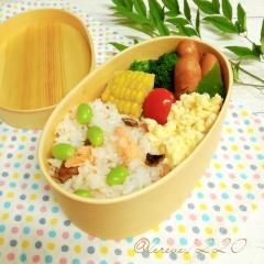 枝豆と鮭の混ぜご飯